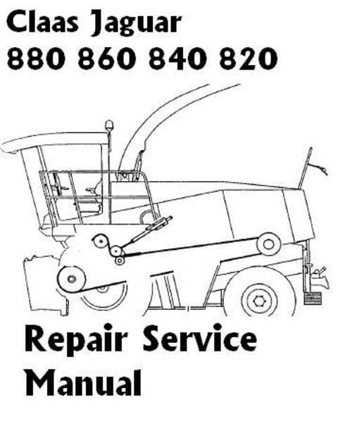 Product picture Claas Jaguar  880  860  840  820 Repair Manual